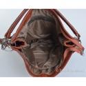 Ciemnobrązowa przypalana kwadratowa torba skórzana A4