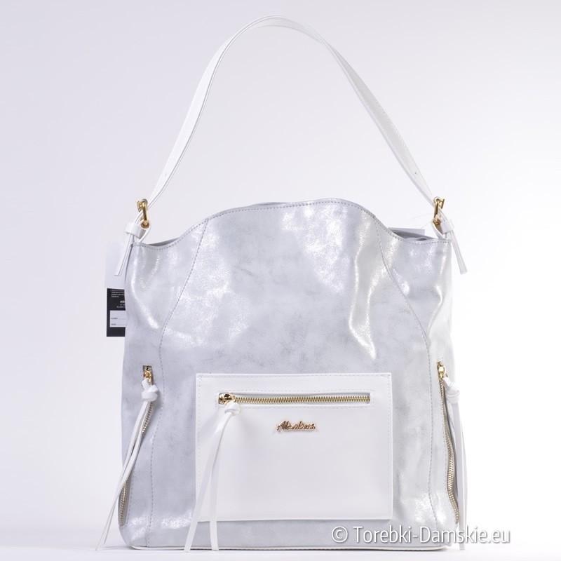 a8905147da1ed Polska szaro - srebrno - biała torba Abakus w efektownym stylu
