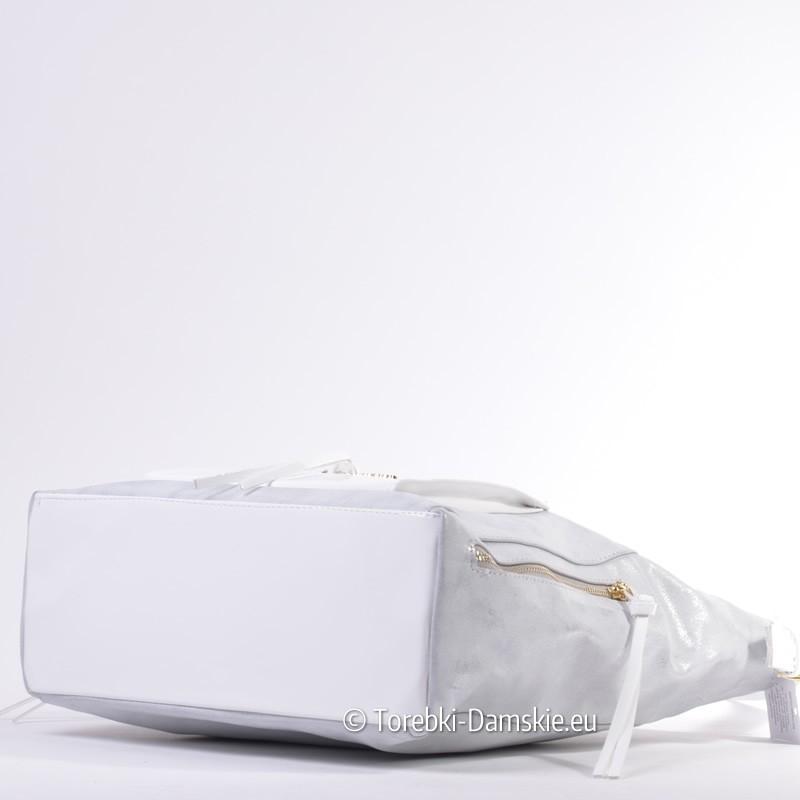 Polska szaro srebrno biała torba Abakus w efektownym stylu