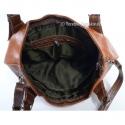 Jasnobrązowa ruda torebka z ciemnobrązowymi dodatkami