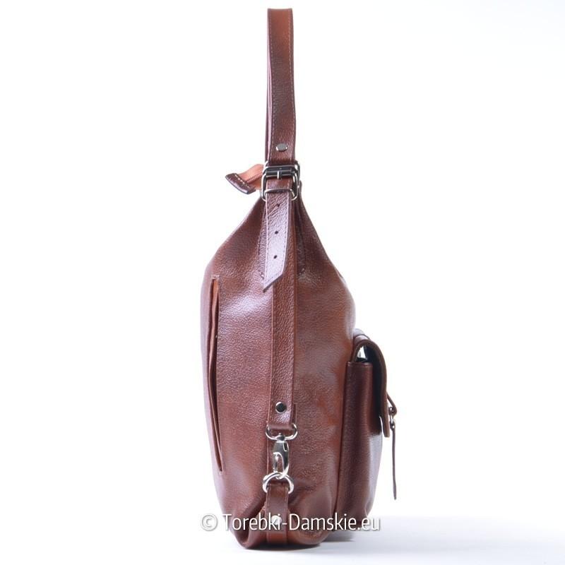 6fe84f9e6b2d3 ... damski brązowy · Skórzana torebka A4 i plecak 2 w 1 ...