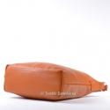 Duża jasnobrązowa torba na ramię ze skóry naturalnej