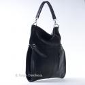 Czarna miejska pojemna torba damska