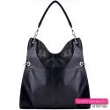 Funkcjonalna i ładnie układająca się czarna torba