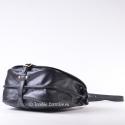 Dwukomorowa skórzana pojemna torba spinana paskiem od spodu