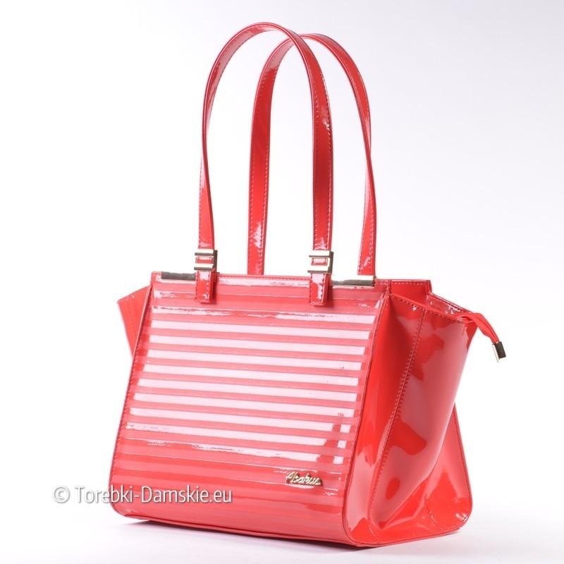 04ab162cda9b3 Czerwona torebka damska lakierowana odcień malinowy Abakus