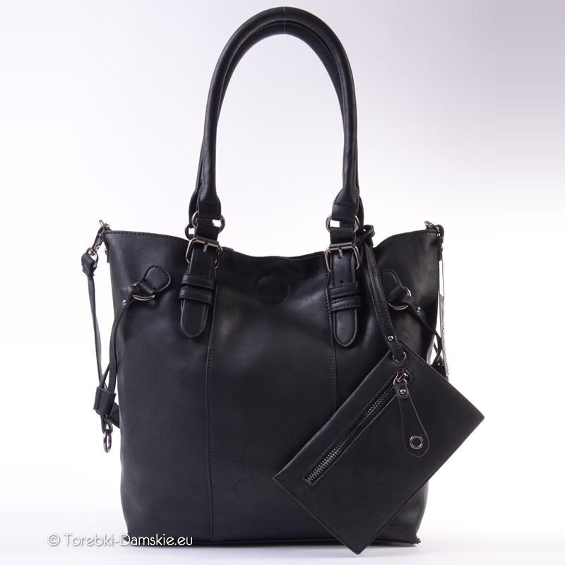 050222198238 Nowy Elegancka duża torba damska czarna