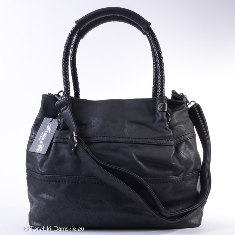 60fdb71f Duża torebka damska do pracy czarna, tania, format A4