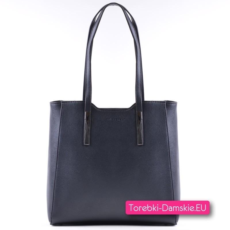 97f340677dce7 Nowy Oryginalna czarna torebka David Jones - shopperbag na ramię
