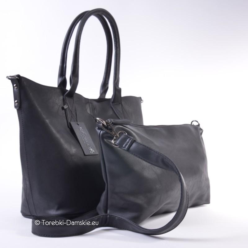 f1955d8e27df2 ... Czarna kwadratowa torba typu shopperbag - Dwa produkty w cenie jednego  ...