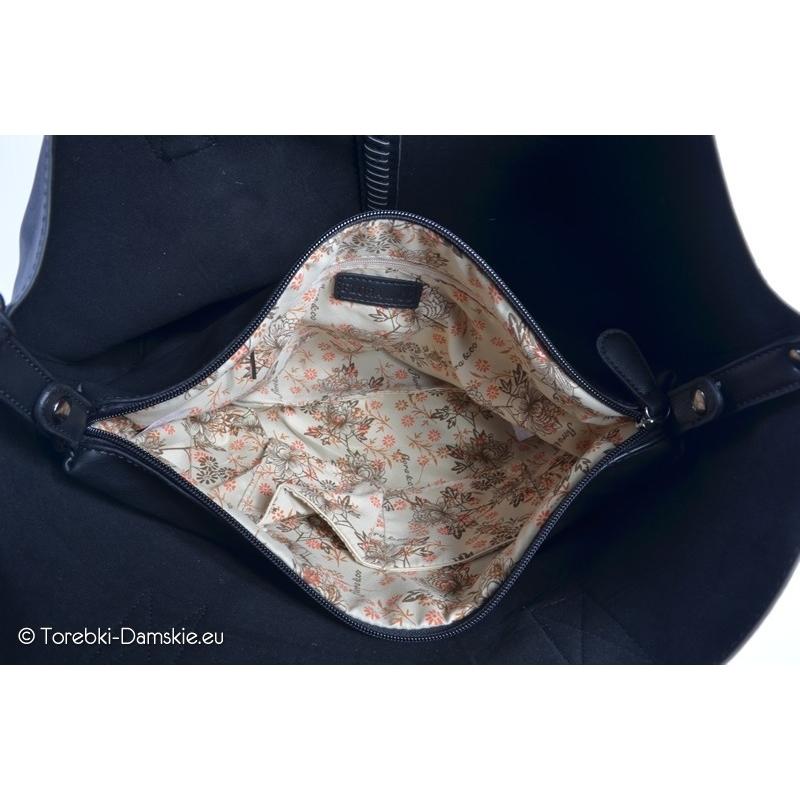 5c0412741eb2a ... Czarna kwadratowa torba typu shopperbag - Dwa produkty w cenie jednego