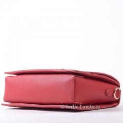 Modna markowa czerwona torebka