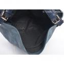 Torebka wykonana ze skóry eko o fakturze i kolorze niebieskich jeansów