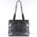 Lekka szara klasyczna torebka damska na ramię