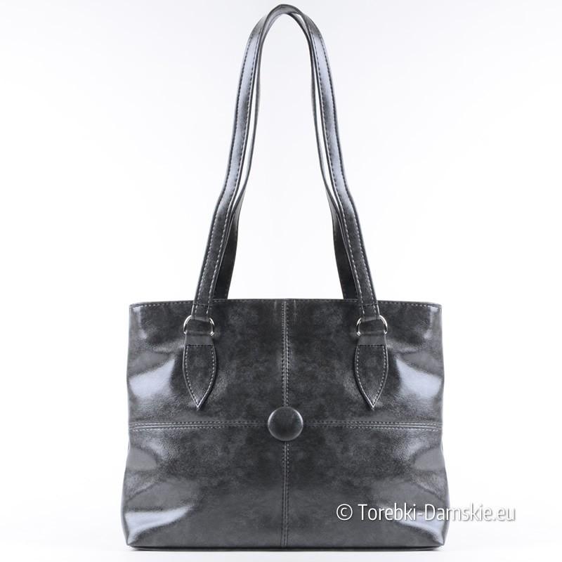 ce36ad8e32252 Lekka szara klasyczna torebka damska na ramię