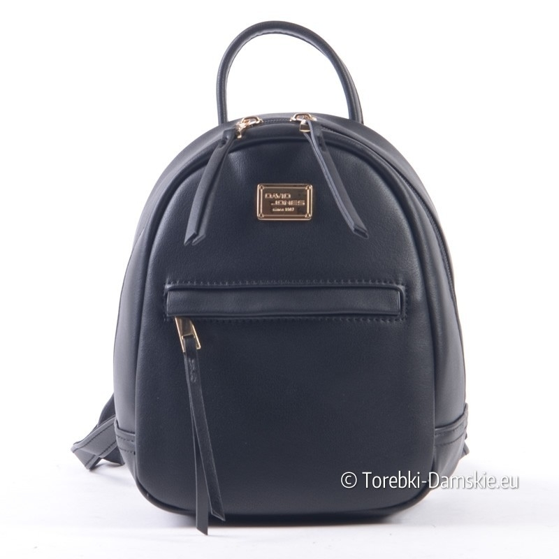 44726ac2b02f0 Czarny mini-plecaczek damski David Jones