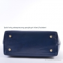 Granatowa - ciemnoniebieska skórzana torba damska