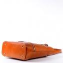 Jasnobrązowa karmelowa torebka damska ze skóry naturalnej