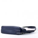 Torebka dwukolorowa - ecru z czarnym - średnia wielkość