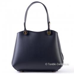Czarny włoski kuferek - efektowna torebka damska ze skóry naturalnej