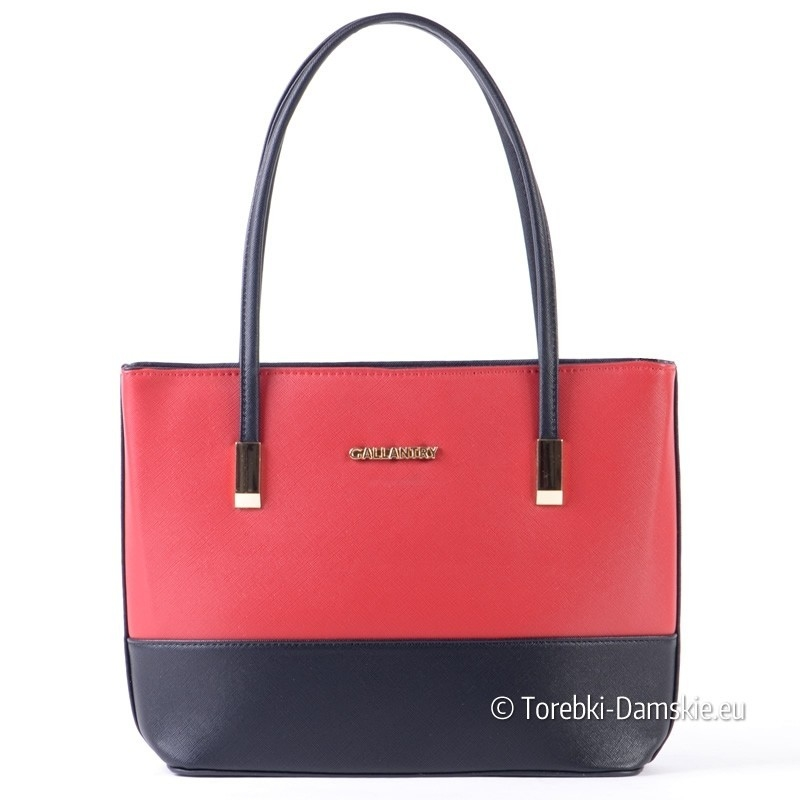 Czerwono - czarna torebka średniej wielkości