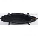 Granatowo - czarna torebka średniej wielkości