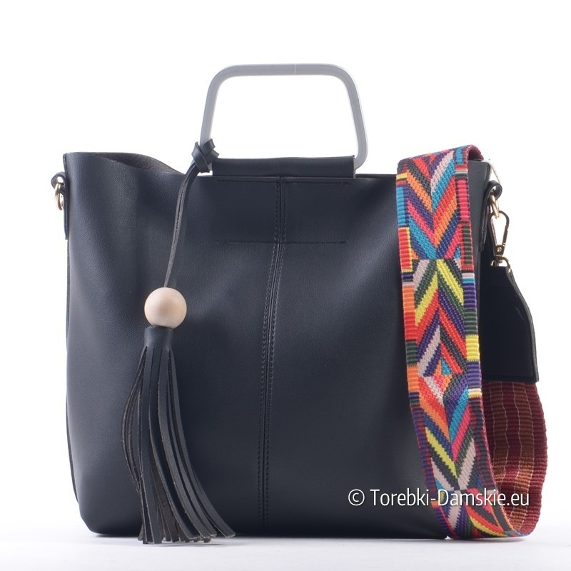 3852f59c48a57 Komplet - dwie torebki damskie shopper i listonoszka oraz kolorowy ...