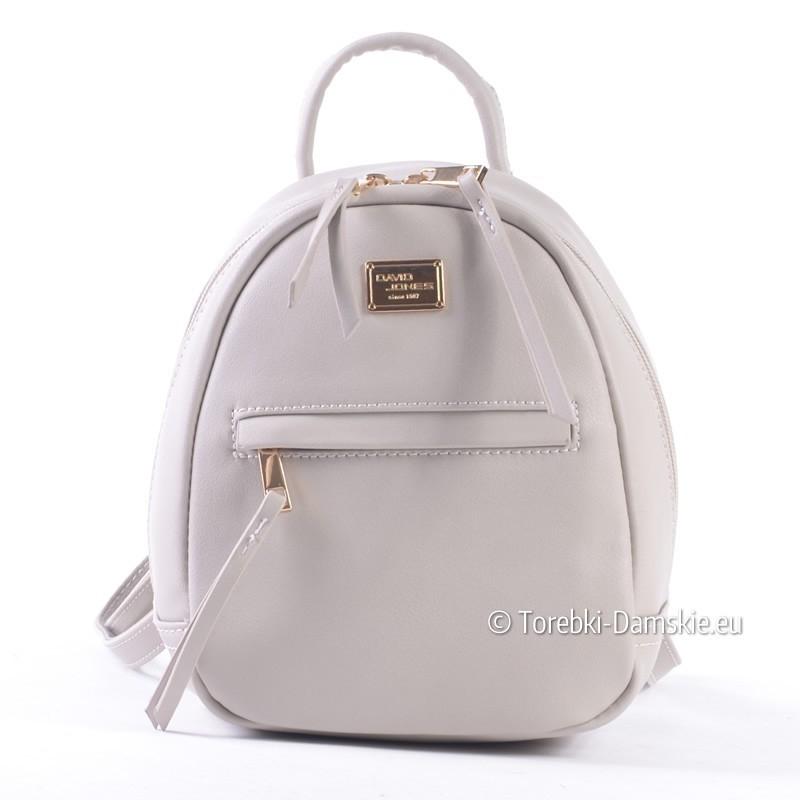 Szary mały plecaczek damski marki David Jones
