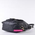 Czarna torebka trójfunkcyjna: plecak damski, listonoszka, worek