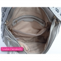 Pojemna szara torba damska na ramię i do przewieszenia