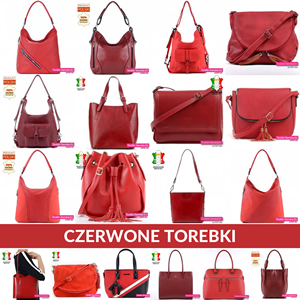 Czerwone torebki damskie oraz bordowe ze skóry naturalnej i ekoskóry
