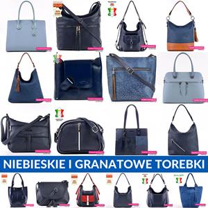 Modne torebki niebieskie, błękitne i granatowe w sklepie internetowym Torebki-Damskie.eu