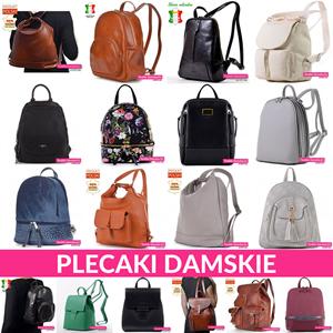 Eleganckie miejskie plecaki damskie w modnych kolorach