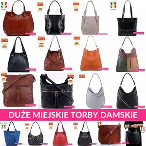 Modne, duże torebki miejskie i mieszczące A4. Sklep internetowy Torebki-Damskie.eu