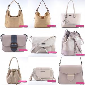 Beżowe torebki damskie w kolorze taupe