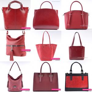 ca2af1009cccb Czerwone i bordowe torebki damskie