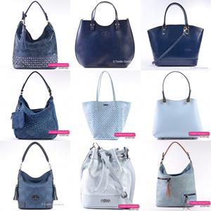 Niebieskie błękitne i granatowe torebki damskie