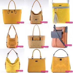 Żółte i musztardowe torebki damskie